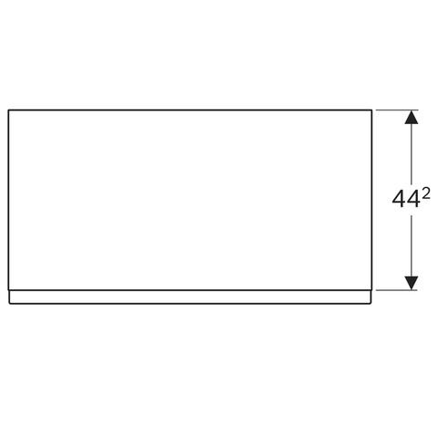 Geberit Icon halfhoge kast 1 lade staand 89cm mat wit