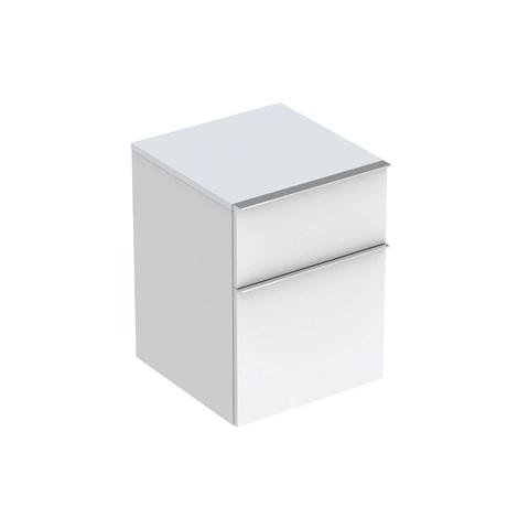 Geberit Icon halfhoge kast 2 laden 45x60cm mat wit