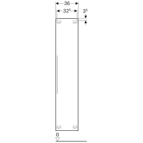 Geberit Icon hoge kast 1 deur 180cm mat wit mat wit
