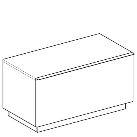 Geberit Icon halfhoge kast 1 lade staand 89x47,2cm platina platina