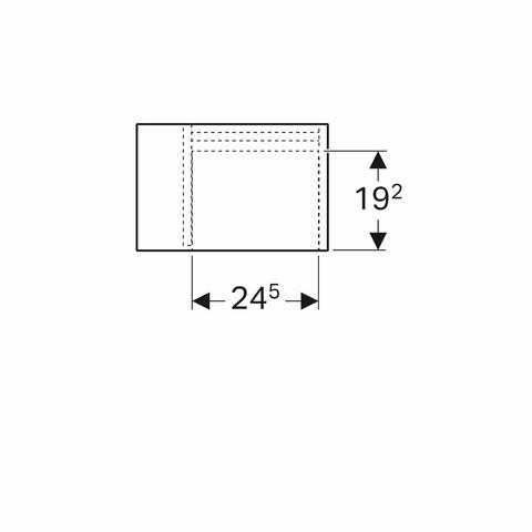Geberit Icon zijelement met opbergbox 37x24,5x40cm rechts glans wit