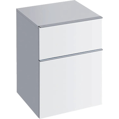 Geberit Icon halfhoge kast 2 laden 45x60cm glans wit glans wit