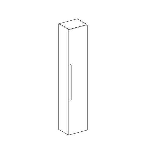 Geberit Icon hoge kast 1 deur 180cm lava