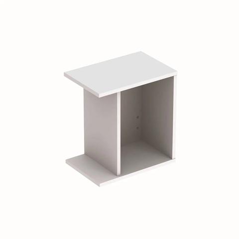 Geberit Icon zijelement met opbergbox 37x27,3x40cm rechts mat wit