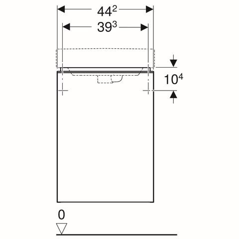 Geberit Smyle fonteinonderkast 1 deur 44cm deur glans zandgrijs glans zandgrijs