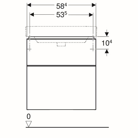Geberit Smyle wastafelonderkast 2 la 58,5x62cm glans zandgrijs glans zandgrijs