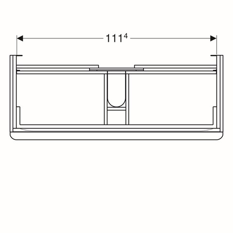 Geberit Smyle wastafelonderkast 2 la 118,4x62cm notelaar hickory notelaar hickory