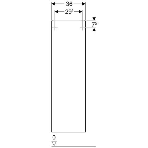 Geberit Smyle halfhoge kast 1 deur 118x36cm notelaar hickory