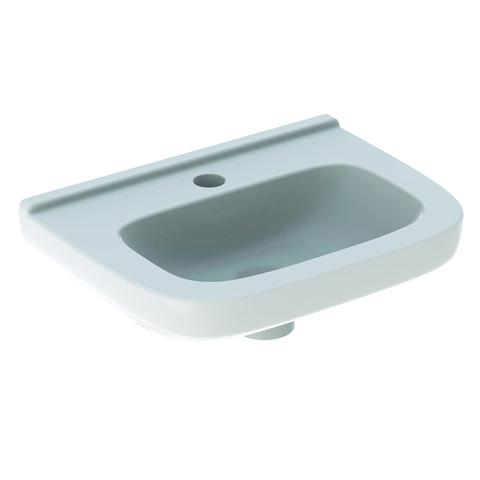 Geberit 300 Basic fontein 40cm kraangat midden zonder overloop vuilafstotend wit