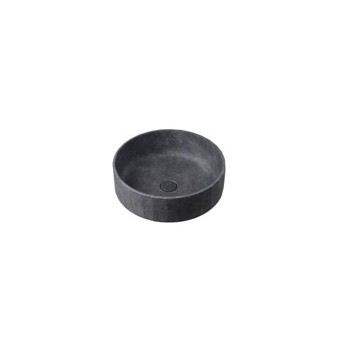 Ideavit Concrete opzetwastafel rond 42cm - donker beton