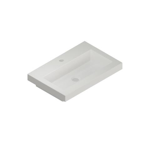 Blinq Sottile wastafel 60x40 wit met frame