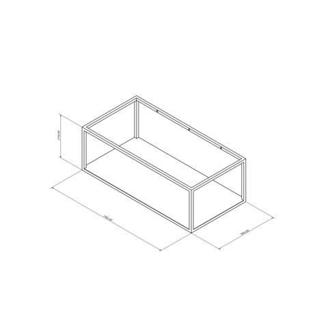 Blinq Sottile badmeubel 80x40 wit met frame