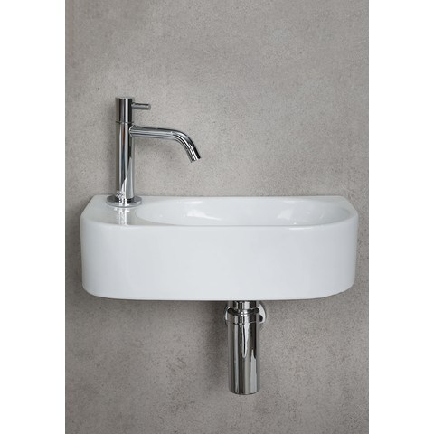Luca Sanitair Ceramics fontein 40x21,5x12h keramiek met kraangat wit glans