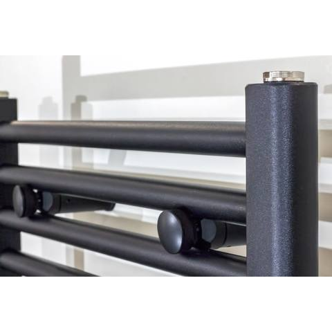 Bewonen Alento handdoekradiator 180x60cm - mat zwart geborsteld