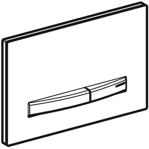 Geberit Sigma 50 bedieningsplaat zwartchroom-alpien wit zwartchroom-wit