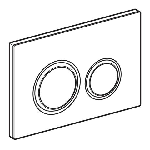 Geberit Sigma 21 bedieningsplaat chroom-betonlook chroom-betonlook
