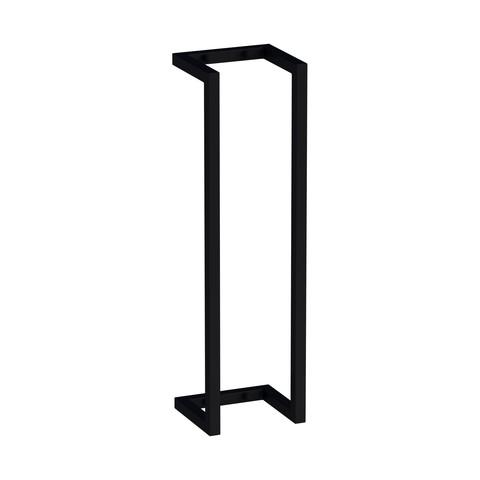 Bewonen Universal handdoekhouder 60cm mat zwart