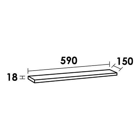 Bewonen Universal MFC planchet 60cm black wood