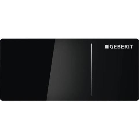 Geberit Sigma 70 opbouw drukker v/inb.reserv.12cm. glas zwart-alum. zwart