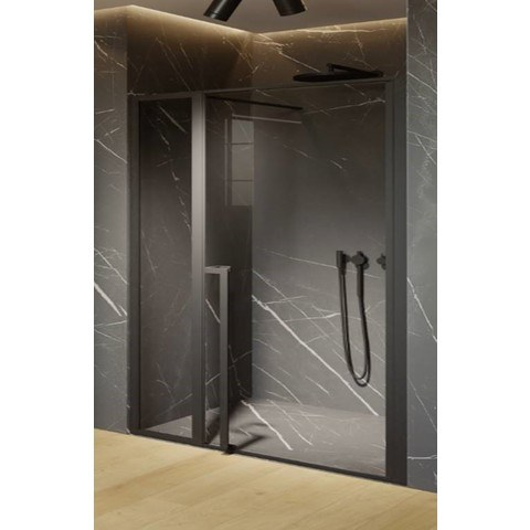 Riho Lucid GD104 nisdeur 2-delig 110cm met mat zwart profiel