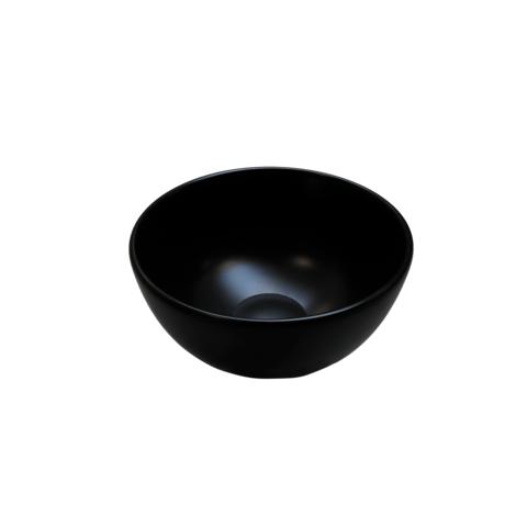 Ink Otello Large opbouw waskom rond porselein - mat zwart - 40x12cm