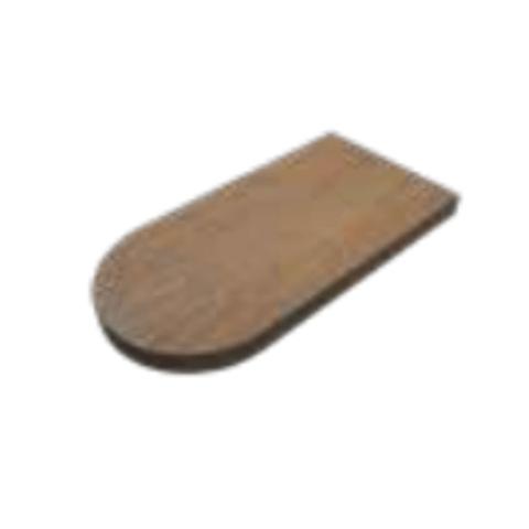 Ink Play R play fontein planchet met blinde bevestiging rechts/links afgerond in echt hout fineer - chocolate - 40x22x3,2cm (bxdxh)