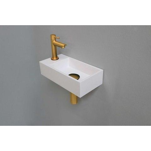 Ink Versus fonteinpack - links - polystone glans wit - toebehoren brushed mat goud