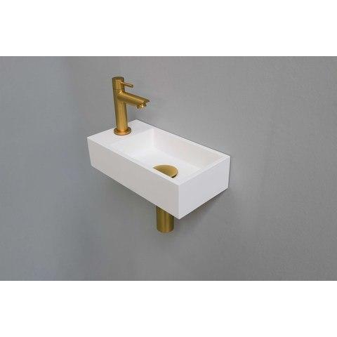Ink Versus fonteinpack - links - polystone mat wit - toebehoren brushed mat goud