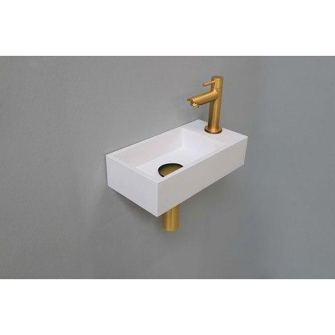 Ink Versus fonteinpack - rechts - polystone glans wit- toebehoren brushed mat goud