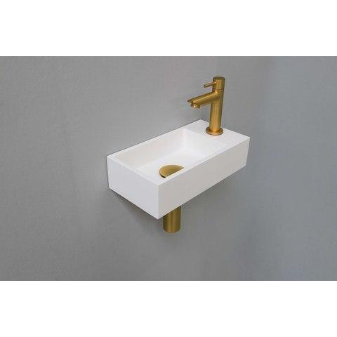 Ink Versus fonteinpack - rechts - polystone mat wit - toebehoren brushed mat goud