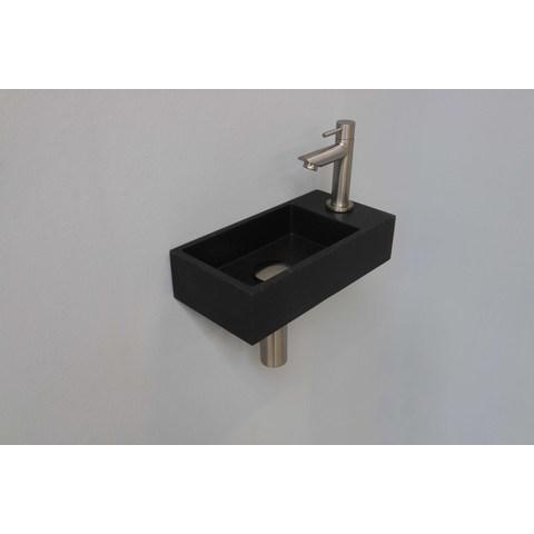 Ink Versus fonteinpack - rechts - quartz zwart - toebehoren brushed nickel