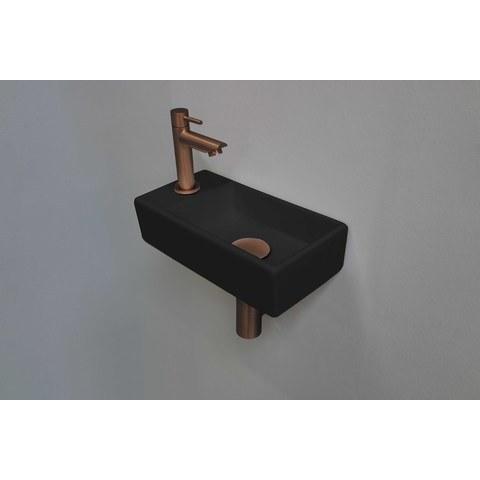 Ink Versus fonteinpack - links - porselein mat zwart - toebehoren mat rosé goud