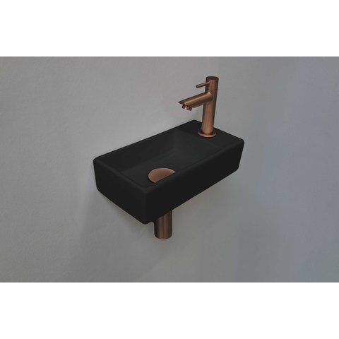 Ink Versus fonteinpack - rechts - porselein mat zwart - toebehoren mat rosé goud