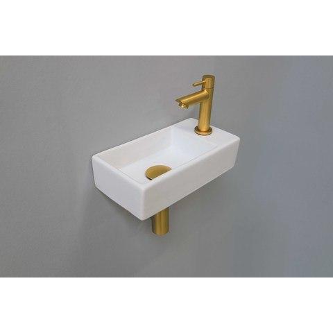 Ink Versus fonteinpack - rechts - porselein mat wit - toebehoren brushed mat goud