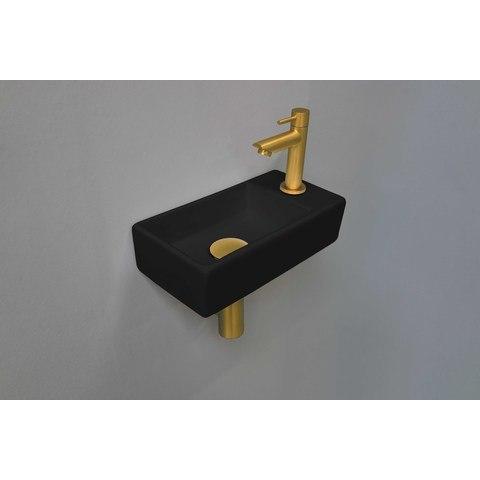 Ink Versus fonteinpack - rechts - porselein mat zwart - toebehoren brushed mat goud