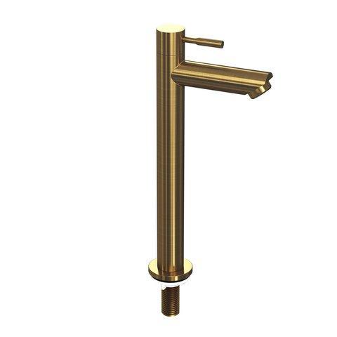Ink fonteinkraan koudwater staand hoog model - brushed mat goud