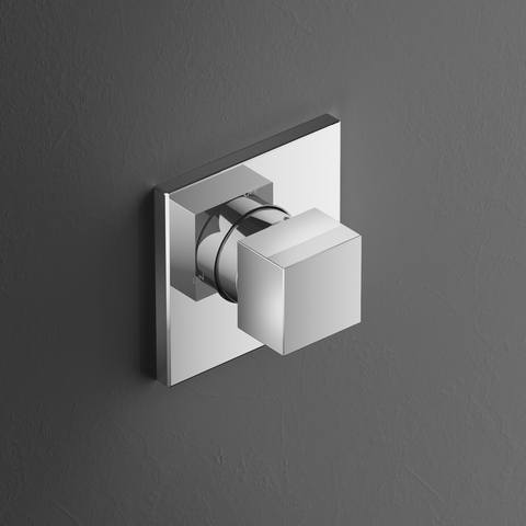 Hotbath Bloke Q010EXTGN inbouw stopkraan geborsteld nikkel