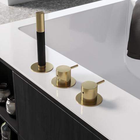 Hotbath Cobber CB075BL badrandcombinatie mat zwart