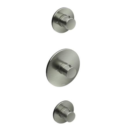 Hotbath Cobber IBS 20GN inbouw doucheset - geborsteld nikkel - met ronde handdouche - 30cm hoofddouche - met plafondbuis 15cm - glijstang met uitlaat
