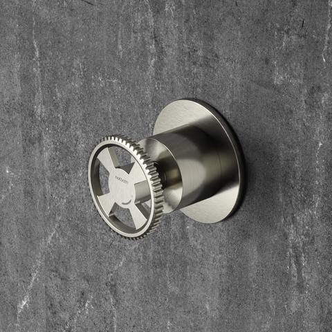 Hotbath Cobber @work CW010HEXT afbouwdeel - inbouw stopkraan warm geborsteld nikkel