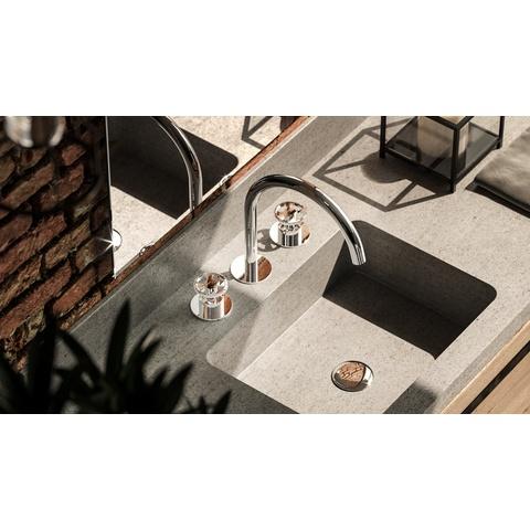 Hotbath Cobber @work CW033 wastafelkraan 3 gats mat zwart