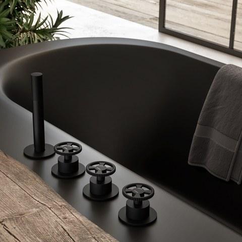 Hotbath Cobber @work CW074 badrandcombinatie mat zwart