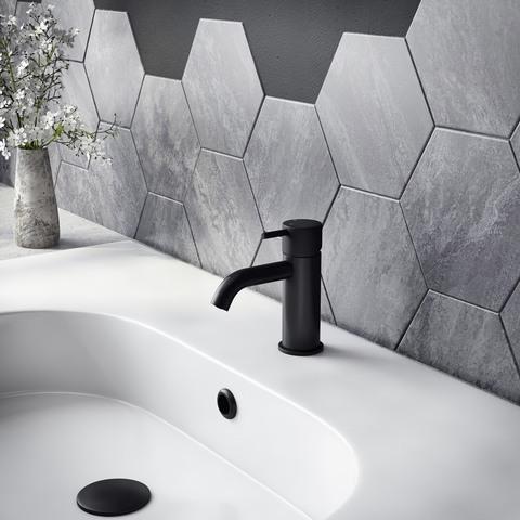 Hotbath Cobber X CX003C wastafelkraan zonder waste mat zwart