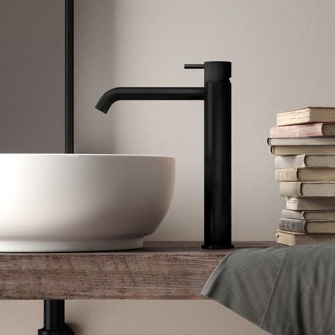 Hotbath Cobber X CX003HC wastafelkraan zonder waste mat zwart