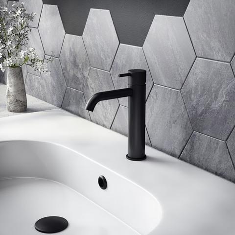 Hotbath Cobber X CX003MC wastafelkraan zonder waste mat zwart