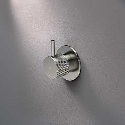 Hotbath Cobber X CX010HEXT afbouwdeel - inbouw stopkraan warm geborsteld nikkel
