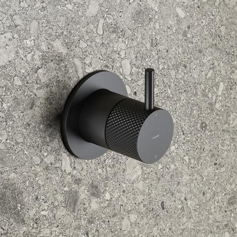 Hotbath Cobber X CX011EXT afbouwdeel - inbouw 2-weg omstel mat zwart