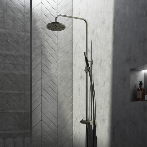Hotbath Cobber X SDSX9 thermostatische stortdoucheset - 20cm hoofddouche - handdouche staafmodel - chroom