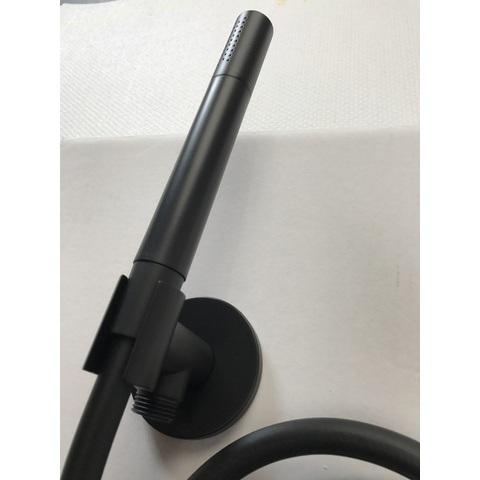 Hotbath Cobber M440 handdouche set met watertoevoer mat zwart