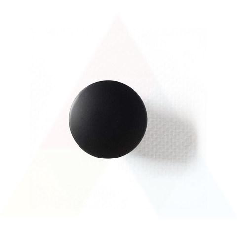 Hotbath Cobber P708 niet-afsluitbare plug rond mat-zwart